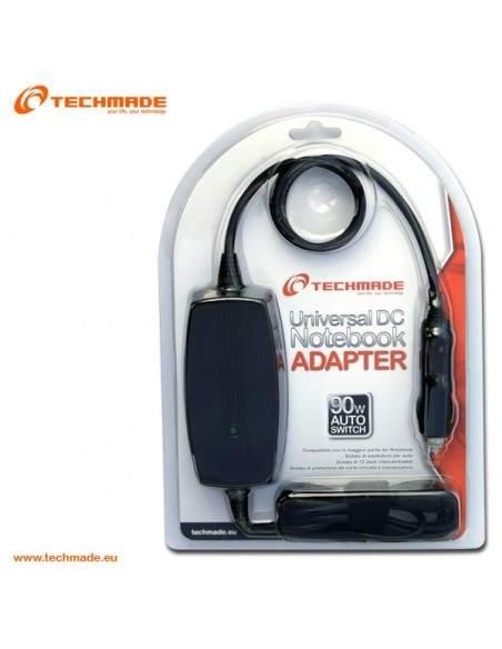 Techmade Alimentatore Universaleper Notebook Da 90W Per Auto