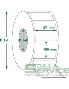 Etichette adesive in rotoli - f-to. 37X100 mm (bxh) - Termica